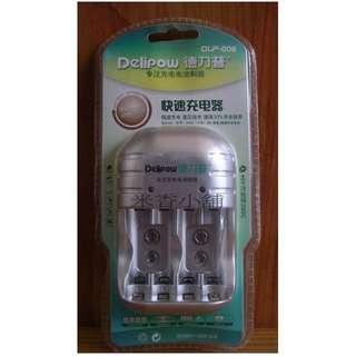 🚚 Delipow 德力普 可充(3號 4號 9V)充電器 充電電池 高容量 快速充電器 智能多功能4槽