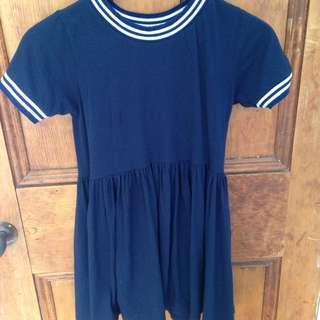navy blue ringer dress