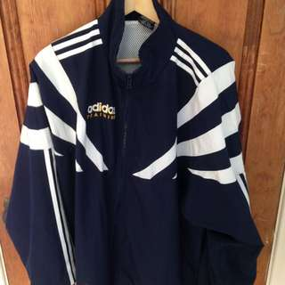 *PENDING*adidas track navy blue and white jacket