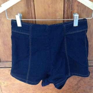 60's style denim shorts