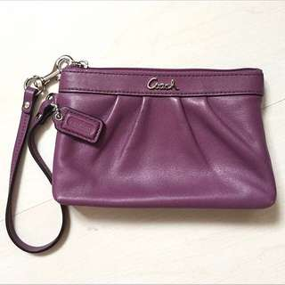 BN Coach Leather Pleated Wristlets