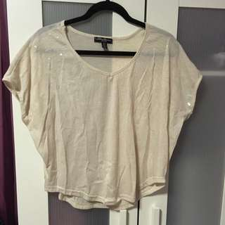Clear Sequinned Top