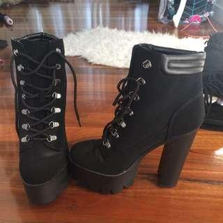 Beginning boutique High Boots Gothic Grunge