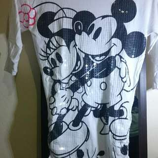 Mickey And Minnie Sequinned Shirt