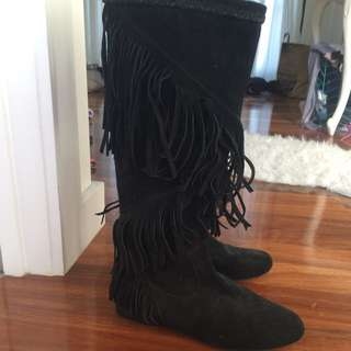 GENUINE SUEDE LEATHER Boots!