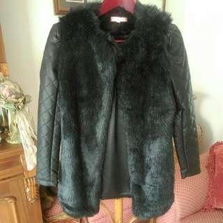 Faux Fur/leather Coat