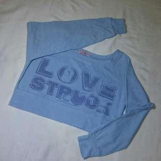 Love Struck Full Sleeve Crop Top