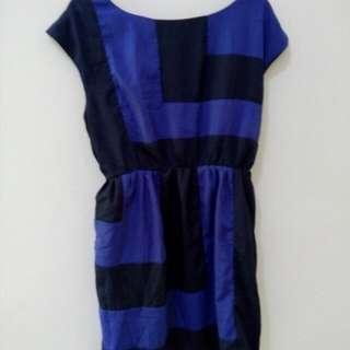 Blue-black Dress