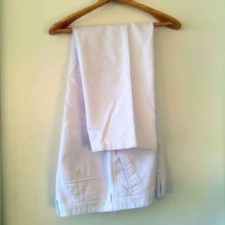 White Trousers Pants BONIA Size 38 Waist