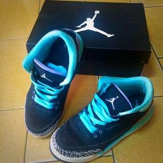 Jordan 3代 tiffany綠
