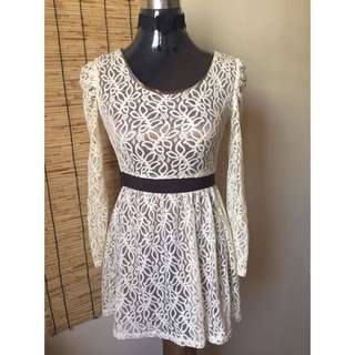 White Laced Dress From Korea
