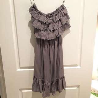 Rebecca Taylor Strapless Silk Dress, Size 0