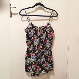 Dark Floral Playsuit