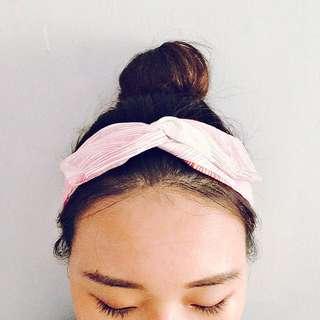 粉紅系鐵絲髮帶💕