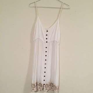 White Slip On Dress