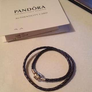Pandora Double Leather Bracelet