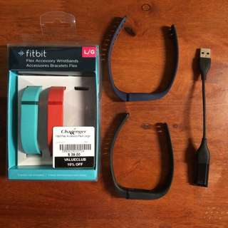 Fitbit Flex (large) + Extra Bands