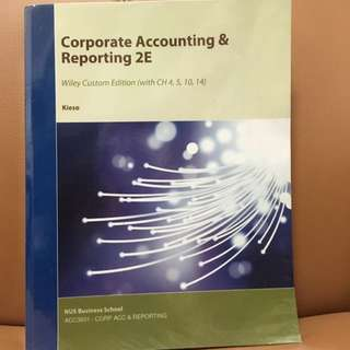 ACC3601 Corporate Accounting & Reporting 2E