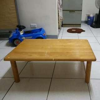 長方木桌 四角可拆 很堅固 長約90cm