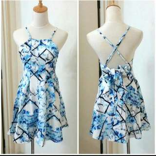 (Free Postage) Baby Blue Floral Dress