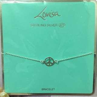 全新Lovisa 925純銀 和平 手鍊