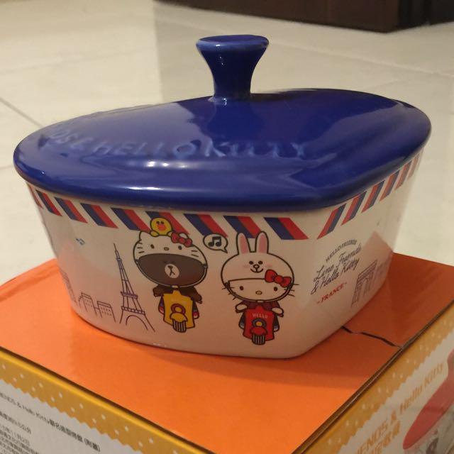 7-11 熊大+kitty 法國心型款 陶瓷大碗