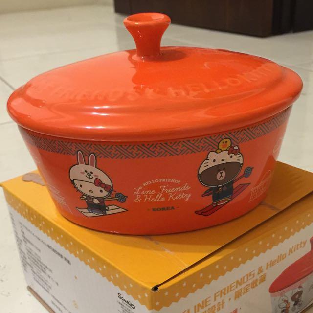 7-11 熊大+kitty 熊大頭型款 陶瓷大碗