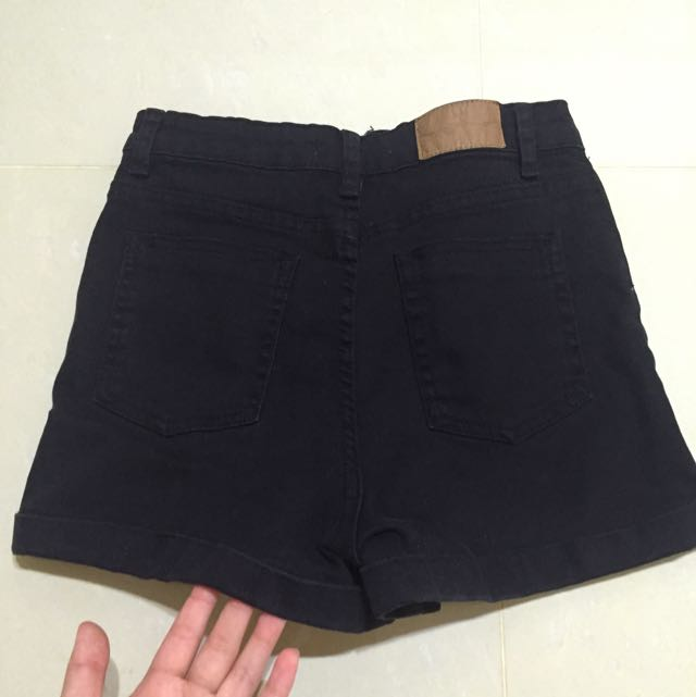 黑短褲 高腰款