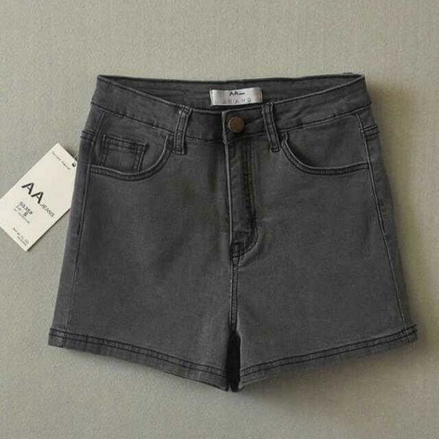 全新 復古 高腰 牛仔短褲