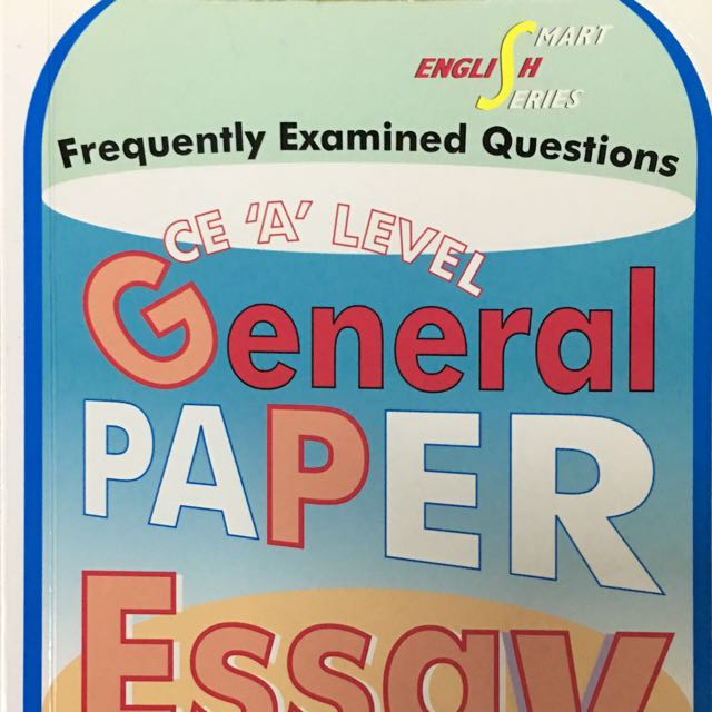 A Level General Paper Essay Library Books  Stationery On Carousell  A Level General Paper Essay Library