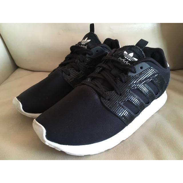Adidas Black White Neoprene Suede Sneakers