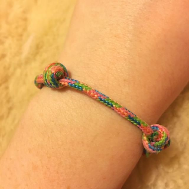 Adjustable Coloured Bracelet
