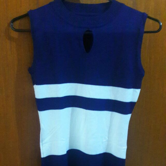 Blue Knitted Dress