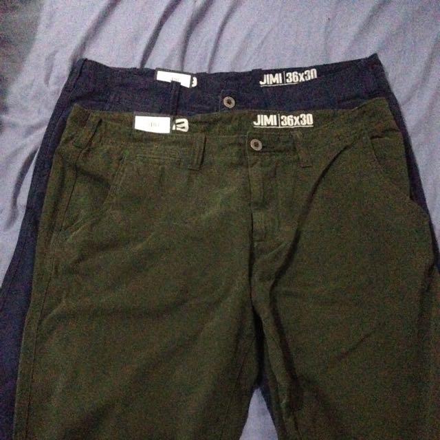 Blue&green Pair Of Pants