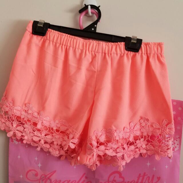 Bright Peach Shorts