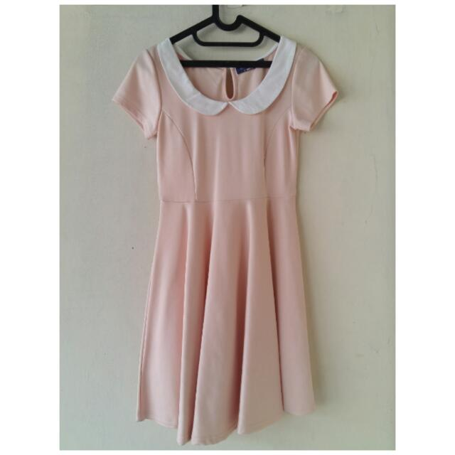 Cache Cache Soft Peach Mini Dress