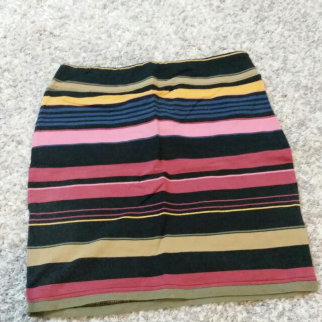 Colourful Stripped Skirt