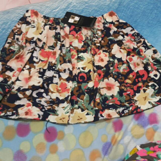Flowery Mini Skirt