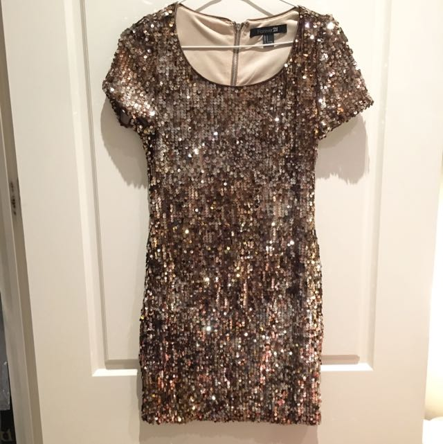 Forever21 Sequined Mini Dress, Size S