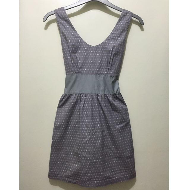 Gray Polka Dot Dress