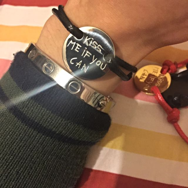 [Hold] Kiss Me If You Can adjustable bracelet