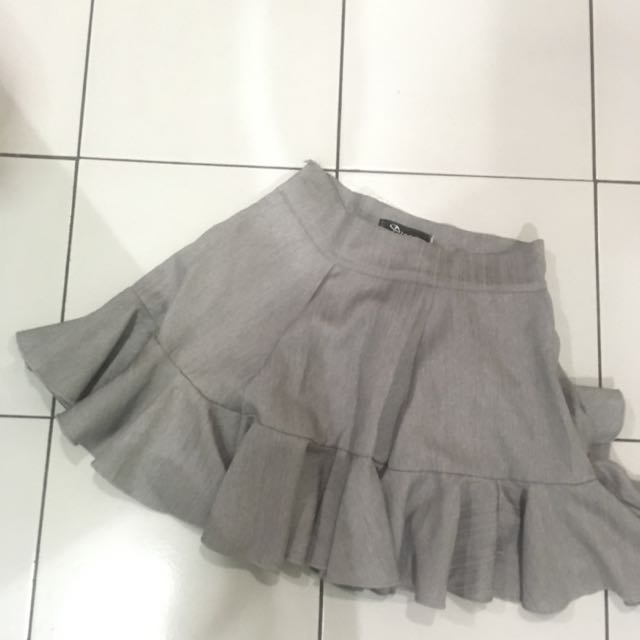 light grey skirt