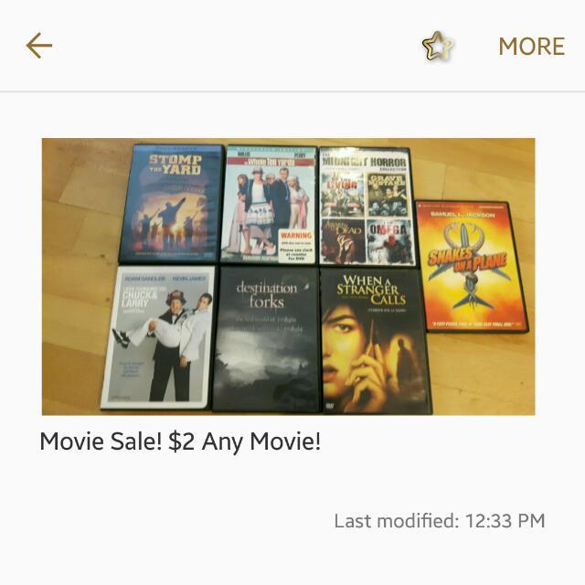 Movie Sale!