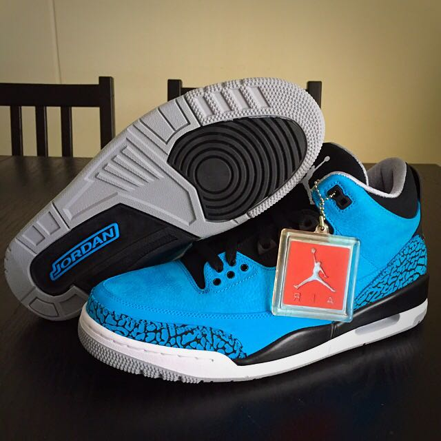 best website 0756f 52abd Nike Air Jordan 3 Powder Blue (DS) RESERVED, Sports on Carousell