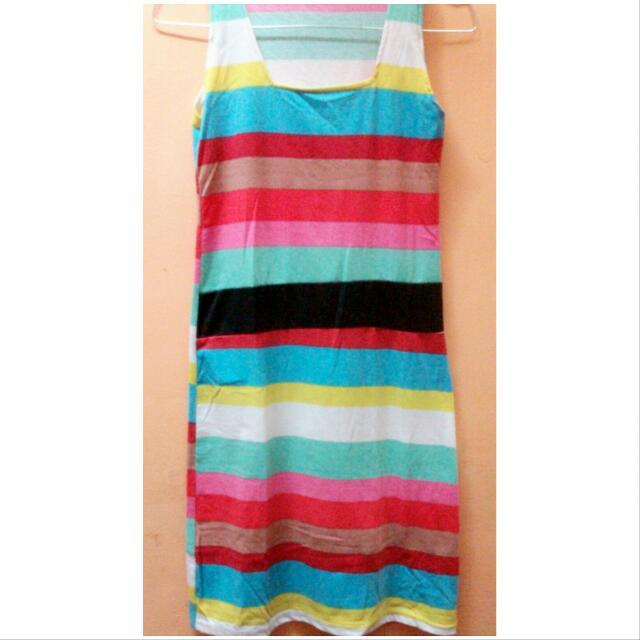 Preloved Dress Rainbow