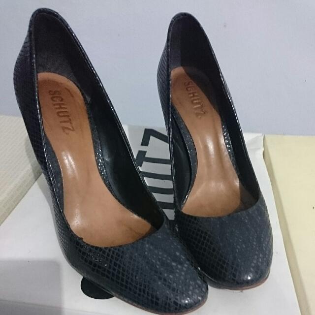Schutz Origin Brazil Black Leather Shoes