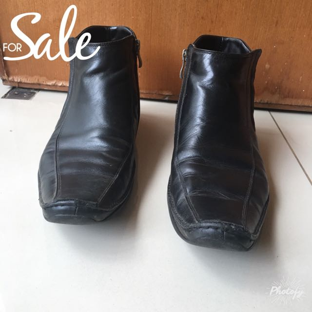 Sepatu boots pantofel formal laki-laki pria (Preloved) merk ANDREW