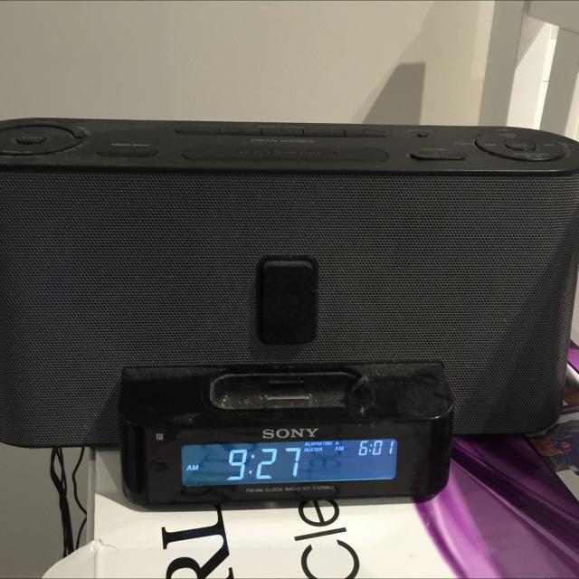 Sony Radio With iPhone Dock