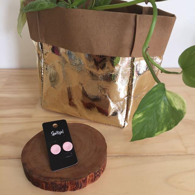 SPORTSGIRL Pink Button Earring Studs