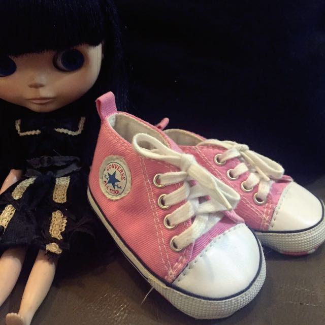 dc41574f887b Strawberry Pink Converse Sneaker (inspired) Baby Shoes
